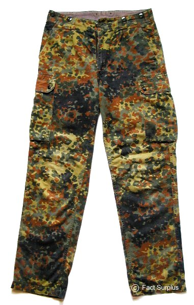 combat trousers   german army flecktarn camo trousers