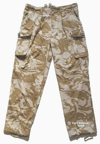 British Army Desert Camo Combat Trousers