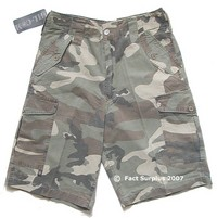 Green / Camouflage Combat Shorts