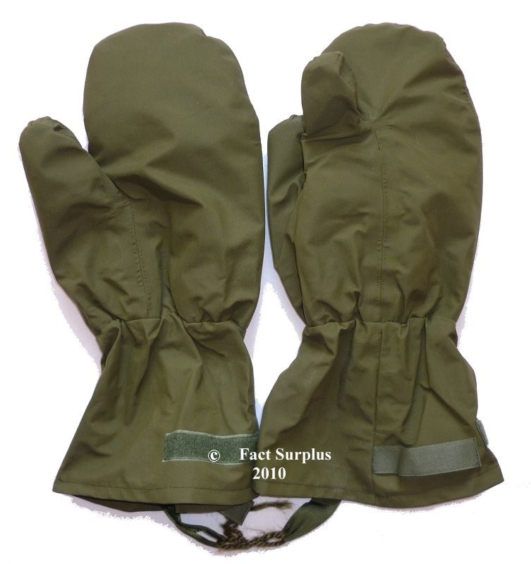 British Army Military Extreme Cold Weather Fleeced Mittens Gloves Trigger Finger