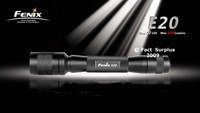Fenix E20 Cree 2 x AA Flashlight Torch 109 Lumens