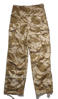 British Army Desert DPM Windproof Trousers